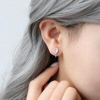 Han Wuzhi S925 Silver Silver Earrings Tree Saplings Exquisite Female Korean Temperament All Match Ear Jewelry