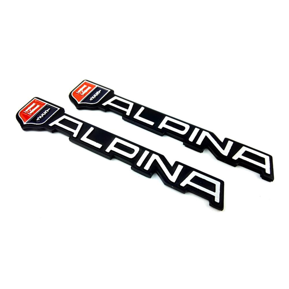 ALPINA DECAL STICKER Aluminum EMBLEM LOGO X4 56mm