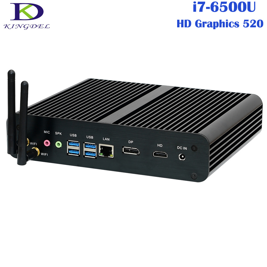 Windows 10 Pro Mini PC,i7 HTPC,Intel NUC,Fanless Computer,Intel 6th Gen.Skylake CPU,Core i7 6500U,Nettop with 16GB RAM,300M Wifi 1piece bben mn11 windows 10 os z8350 cpu intel mini pc tv dongle stick usb3 0 2 0 wifi bt4 0 computer 2g 32g ram 4g 64g emmc rom