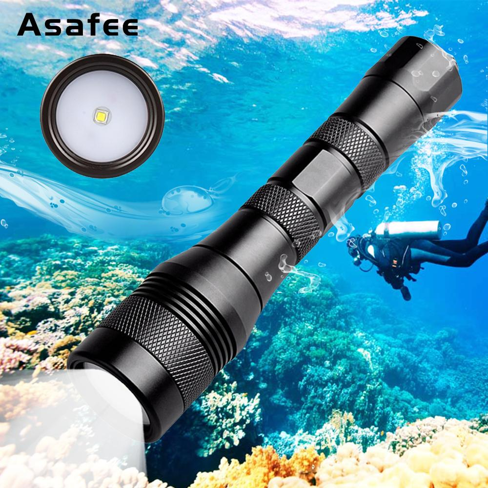 Brinyte DIV01V Professional 120 Degree Beam Angle Underwater 200m CREE XM-L2 LED Diving Video Light Flashlight