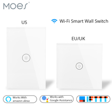 Wifi Smart Wall Touch Switch Glass Panel Mobile APP Remote Control No Hub Required work with Amazon Alexa Google Home US EU UK все цены