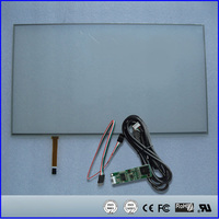18.5 inch 424x243mm 424*243mm 424mm*243mm 4 Wire Resistive Touch Screen Panel USB kit for 18.5 Monitor