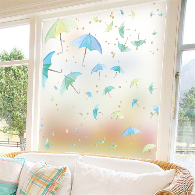 Charmant Ocean Fish Stickers Privacy Glass Self Adhesive Bathroom Office Wall  Removable Decor Window Film Frosted Window