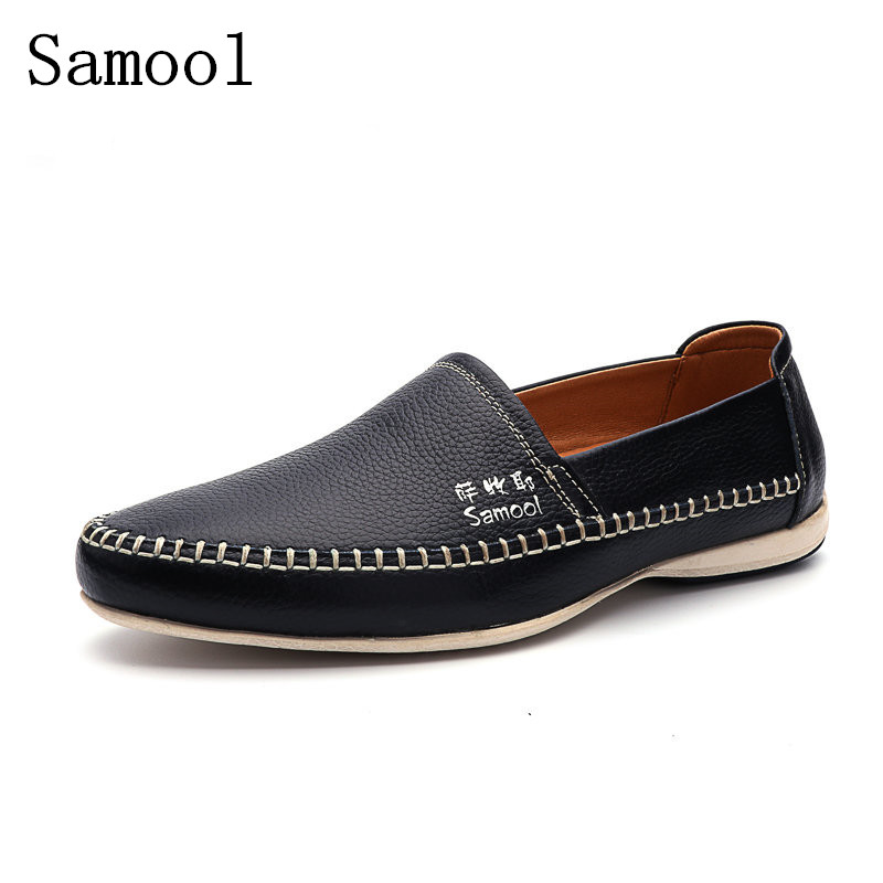 2017 New Fashion Genuine Leather Men Loafers Spring Autumn Comfortable Light Casual Shoes Mens Driving Shoes Man Flats Shoes cbjsho brand men shoes 2017 new genuine leather moccasins comfortable men loafers luxury men s flats men casual shoes