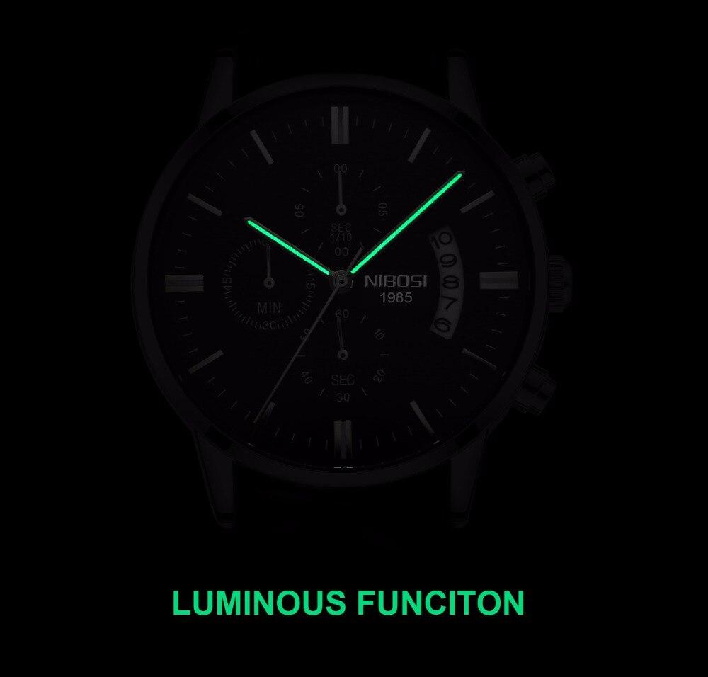 46a09a064b9 NIBOSI männer Uhr Luxus Top Marke Mode Uhren Relogio Masculino ...