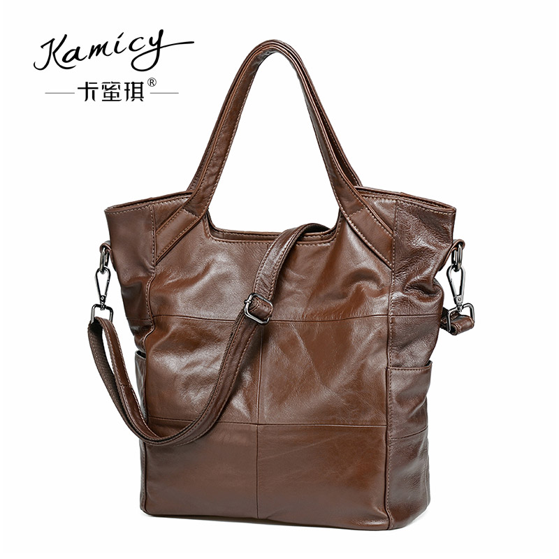 2017 new Women Bag ladies  hand bags  Genuine cowhide  Leather Handbags  High Quality vertical  design large single shoulder bag qiaobao 2017 new 100% cowhide leather handbags women patchwork ladies hand bags girls soft genuine leather shoulder bag ladybag