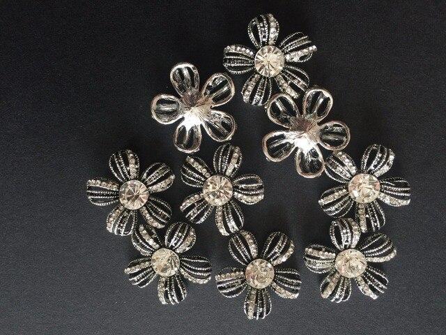 10pcs flower Vintage Rhinestone Buttons 5a0e23f5c873