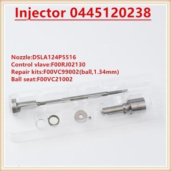 Kaliteli enjektör revizyon kitleri meme vana DSLA124P5516 (0433175516) F00RJ02130 2500 3500 0445120238 5135790AD