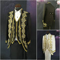 ML-002 Victorian /Civil War black/white  mens period costume Medieval Renaissance stage performance/Prince charming William