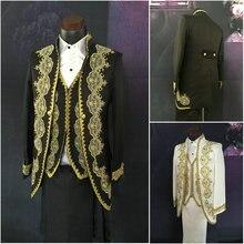 ML-002 викторианской/Гражданская война черный/белый мужские костюмы период Средневековый Ренессанс для выступления/принц Уильям