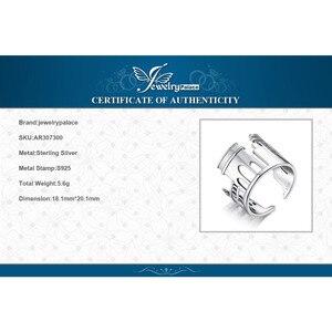 Image 5 - JewelryPalace 925 пробы серебро Винтаж World Travel сувенир Мрамор арки регулируемое Открытое кольцо Новая горячая Распродажа как красивый подарок