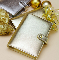 dokibook original A5& A6 PDA 6 hole loose leaf notebook diary hand books native silver & gold