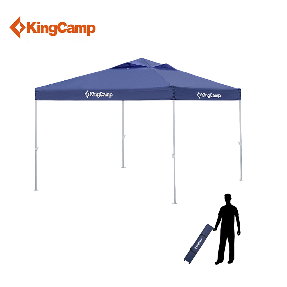 KingCamp Outdoor Canopy Tent, Fit for Patio Gazebo, Wedding Party, Commercial Fair Shelter Car Shelter Easy to Set-up Durable 4 4 meter aluminum deluxe outdoor gazebo patio tent pavilion with sidewalls and gauze for garden decor