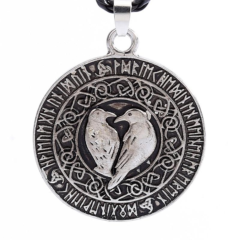 dc87878c7daa2 Detail Feedback Questions about Norse Viking Pendant Necklace Valknut Raven  Pendant Runa Talisman Amulet Necklace Pendant Nordic Viking Knot  dropshipping 30 ...