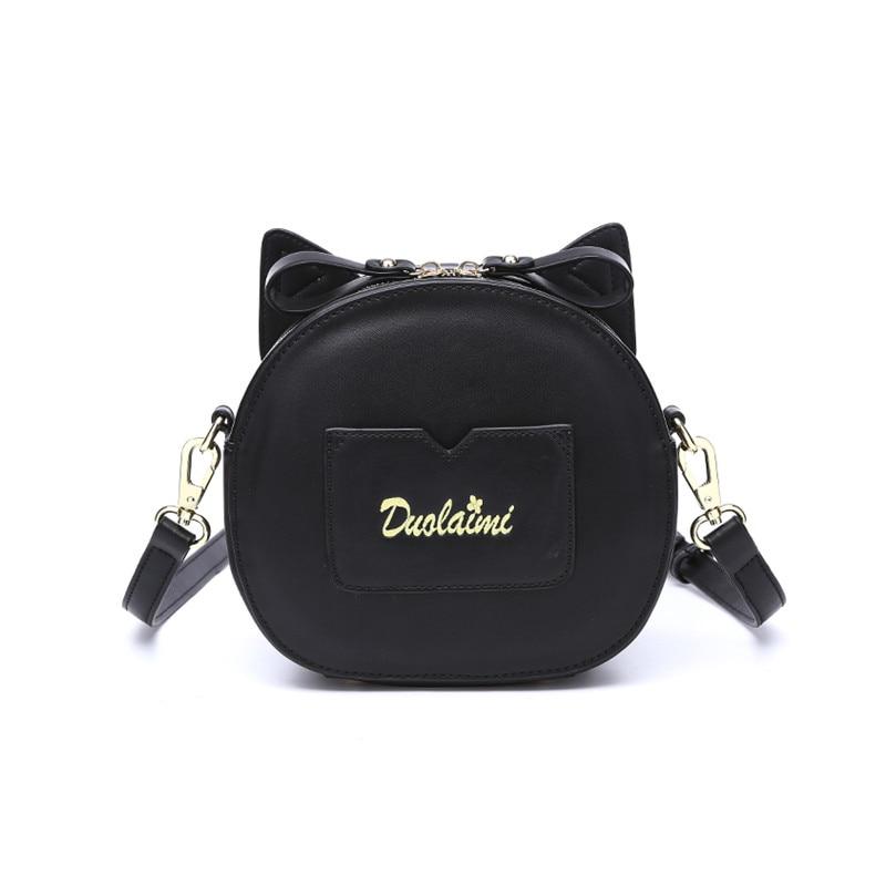 Cat Cross Body Bag Սև ձեռքի պայուսակ Cute - Պայուսակներ - Լուսանկար 4