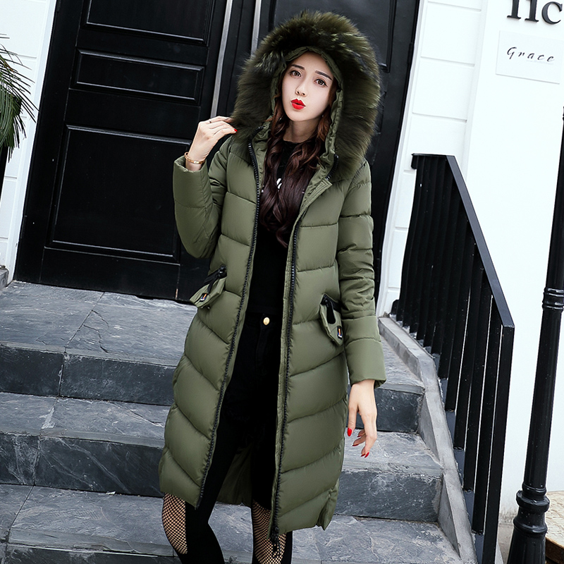 Woman Parka Winter Women Jacket Coat With Faux Fur Hood Warm Women Coat High Quality 2017 Cockscomb New Winter Collection zip up faux fur hood parka jacket
