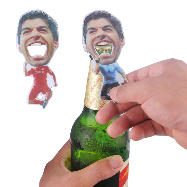 30 pcs/lot Luis Alberto Suarez Stainless Steel Beer Opener Wine Bottle Opener Kitchen Cooking Tools World Cup Creative Gift