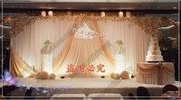 Романтические свадебные занавес с шампанское Хабар свадьба фон украшения