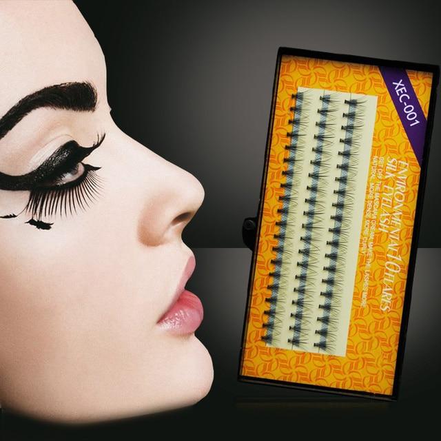 Pestañas C cURL negro ojo individual falso pestañas extensión natural espesor (0.10mm) 8/10/12mm opciones 3 tiras/paquete