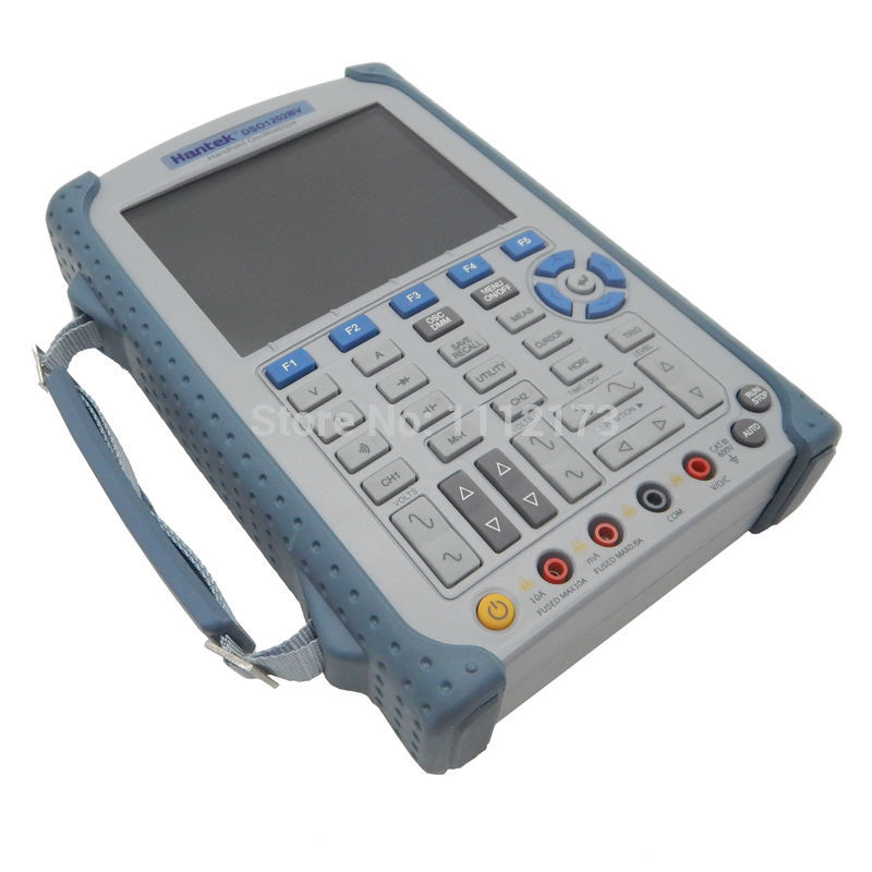 Hantek DSO1202BV Ручной осциллограф 2 Каналы 200 мГц осциллограф построить в видео + 2 г SD флэш-памяти + DMM аналоговый гистограмма