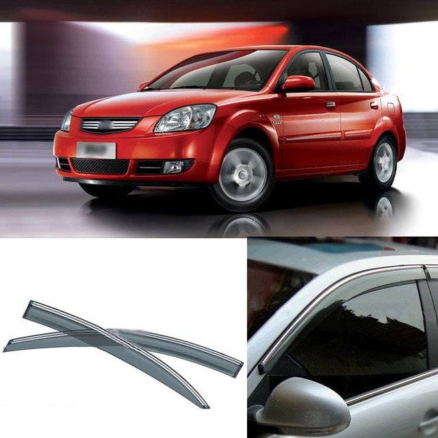 4pcs Blade Side Windows Deflectors Door Sun Visor Shield For Kia Rio 2007-2012