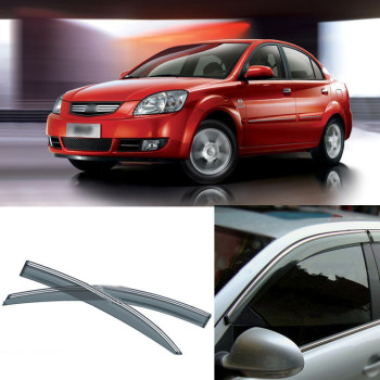 Jinke 4pcs Blade Side Windows Deflectors Door Sun Visor Shield For Kia Rio 2007 2012|shield|shield visorshield deflector -