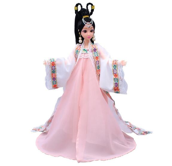 Ethnic Dolls For Girls Toys 12 Movable Jointed Body Dolls BJD Doll Toys For Girl Birthday Gift Hobby Collection