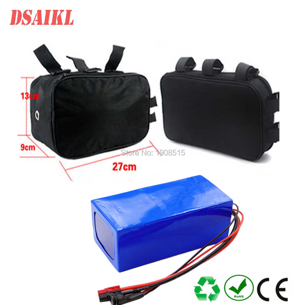 14S4P 51.8V 52Volt lithium ion battery pack 52V 11.6Ah with cloth bag and charger for 750W 1000W electric bike