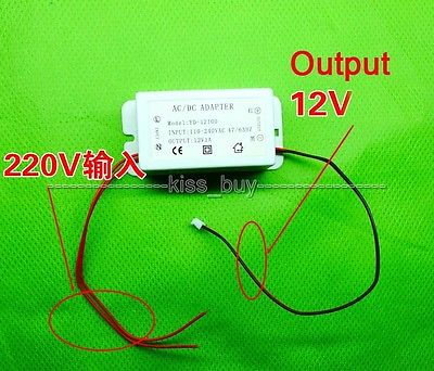 AC/DC 110V-240V 220V to DC 12V 1A Power Supply Adapter 12V MP3 Decoder Board