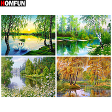 HOMFUN Full Square/Round Drill 5D DIY Diamond Painting Tree scenery Embroidery Cross Stitch 5D Home Decor Gift homfun full square round drill 5d diy diamond painting deer scenery embroidery cross stitch 5d home decor gift a18124