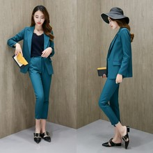 Ms. suit fashion new style Slim Office ladies OL temperament jacket and pants two-piece suit все цены
