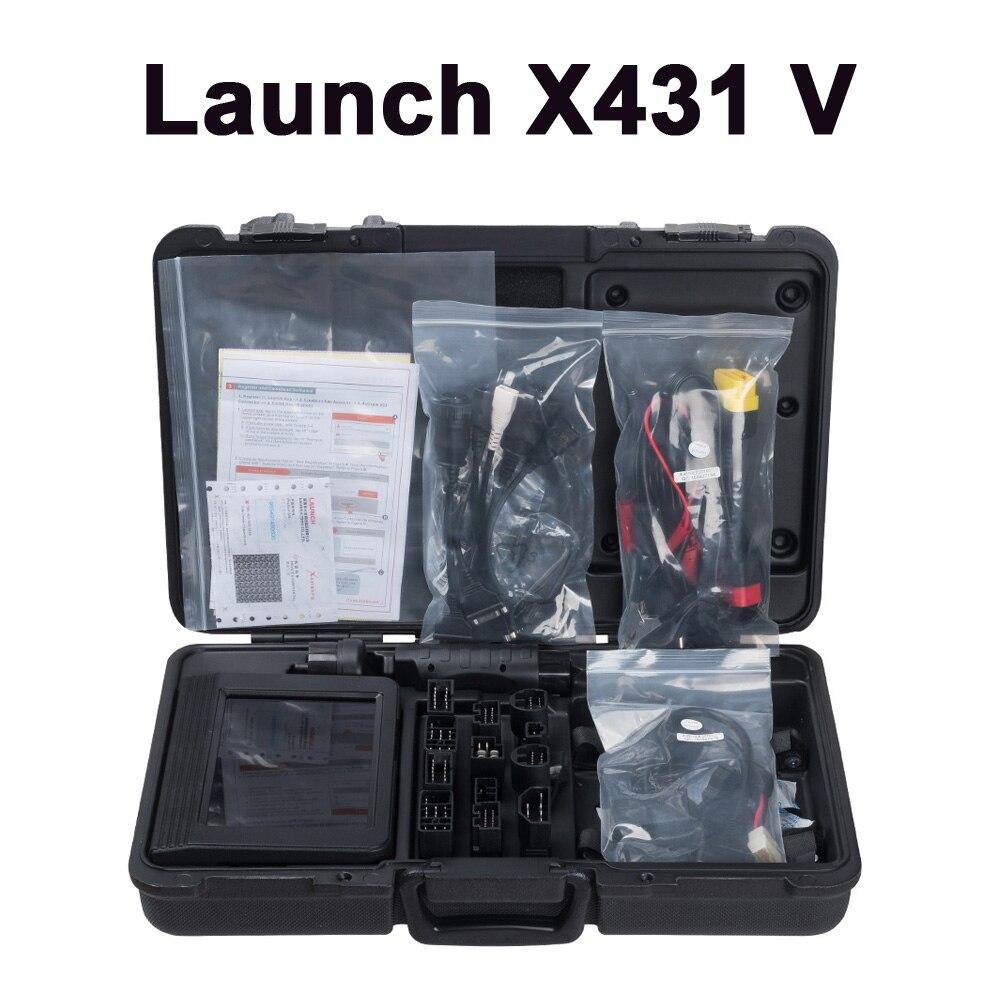 Launch x431V 8 дюймов pad расширенный полный запуск диагностического инструмента X 431 pro wifi/bluetooth Замена diagun3 DHL корабль