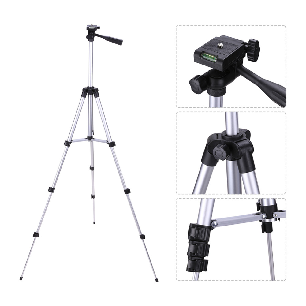 Professional Flexiable 3 Sections Universal 1/4 Metal Camera Tripod with Carry Bag for Canon Nikon Camera Tripod Accessories image
