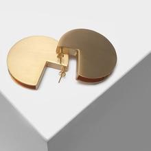 Geometric wire drawing design pendant fashionable eardrop