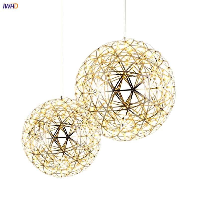 IWHD Nordic Modern LED Pendant Lights For Dinning Living Room Kitchen Ball Decor Hanging Lamp Pendant Lighting Fixtures Hanglamp