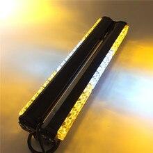 DC12V, les deux côtés, 6x6, lumière jaune et blanc pour voiture, long, stroboscope durgence LED, lampe de sauvetage, lampe de police, éclairage davertissement
