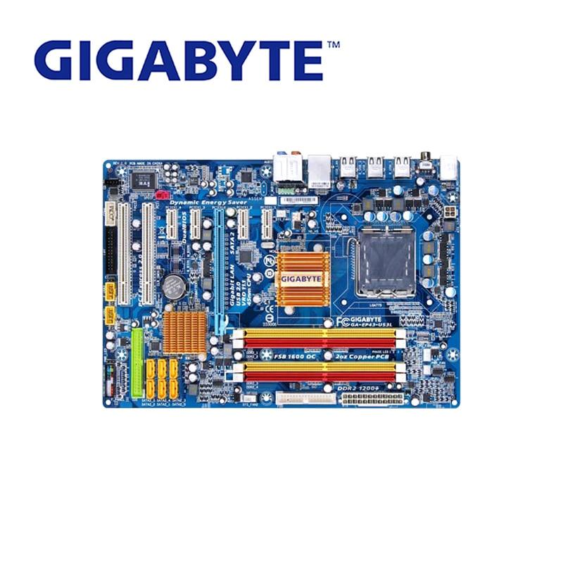 цена LGA 775 DDR2 For Intel P43 Used Gigabyt GA-EP43-US3L 100% Original Motherboard Desktop Computer Mainboard EP43-US3L EP43 US3L