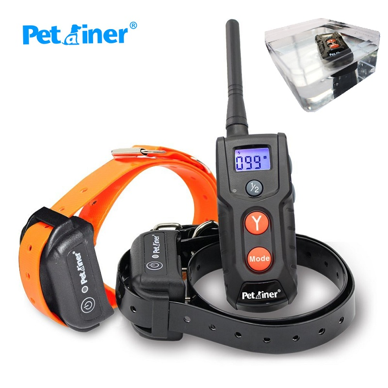 Petrainer Dog Training Collar Rechargeable Waterproof 330yd Remote Dog Shock Collar with Beep Vibration and Shock