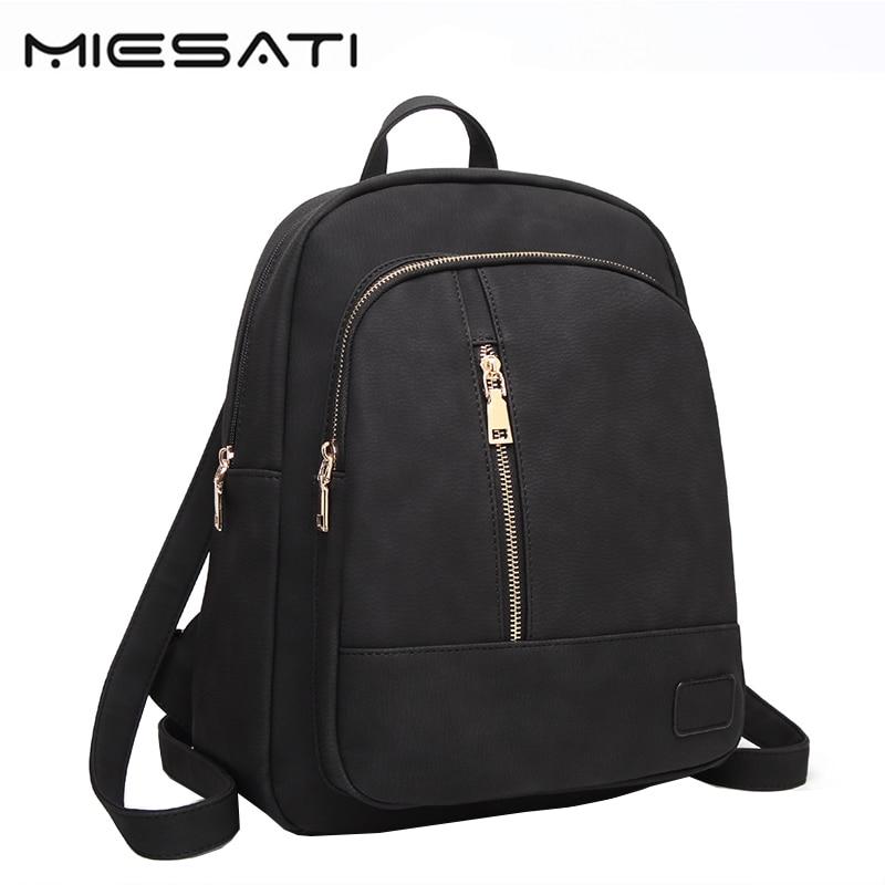 MIESATI Women Backpack Bacisco High Quality Soft Leather Shoulder Bags Designer Travel Backpacks For Teenage Girls School Bags