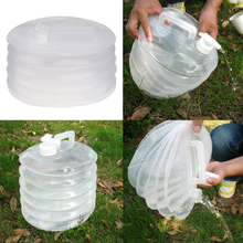 10L Foldable Camping Water Bucket Outdoor Clear Collapsible Water Containers Hiking Fishing Picnic Water Buckets