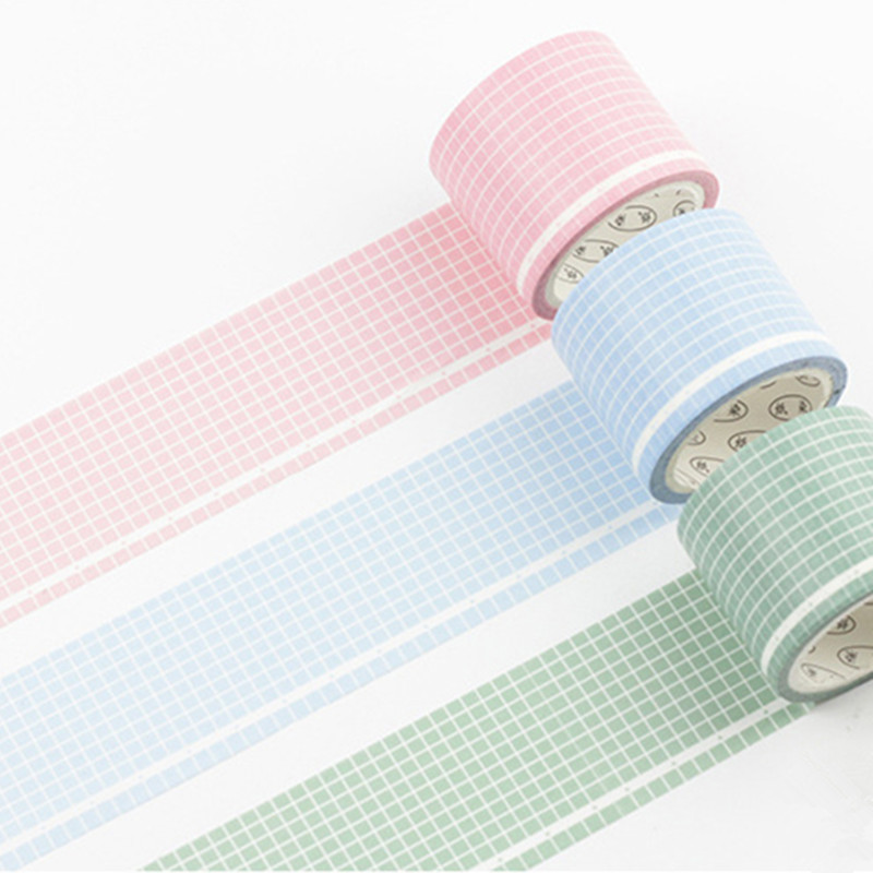 Color Grid Washi Tape Decoration Scrapbooking Planner Masking Tape Adhesive Tape Label Sticker