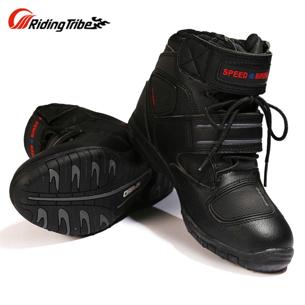 цена на Motorcycle Boots Rider Shoes Motocross Botas Moto Motoqueiro Motocicleta A00596 Botte Botas Para Moto Men