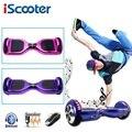 IScooter Электрический скейтборд Ховерборд с bluetooth и дистанционным управлением, умный двухколесный самобалансирующийся 6,5 дюймов гироскутер ...