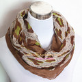 New Fantasy Leopard Animal Print Chevron Infinity Scarves Fashion Cute Animal Stripe Loop Scarf Winter Women Dot Ring Shawl