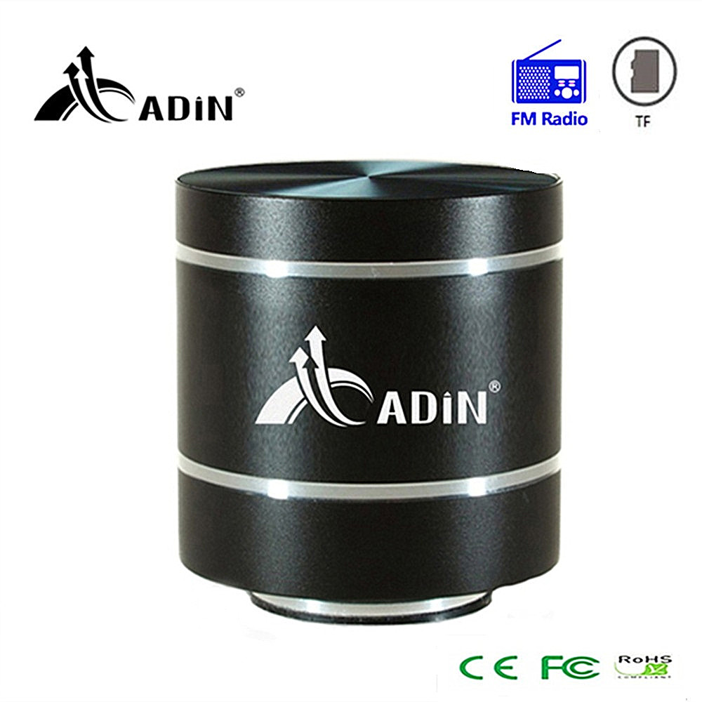 ADIN remote control vibration speaker mini portable fm radio speaker audio subwoofer super bass speakers for phone computer pc exrizu ms 136bt portable wireless bluetooth speakers 15w outdoor led light speaker subwoofer super bass music boombox tf radio