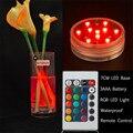 7 CM de Diâmetro 10 pcs Branco/Branco Morno/RGB SMD LEDs À Prova D' Água LEVOU Base de Luz Piscina LEVOU decoração de Luz com Controle Remoto
