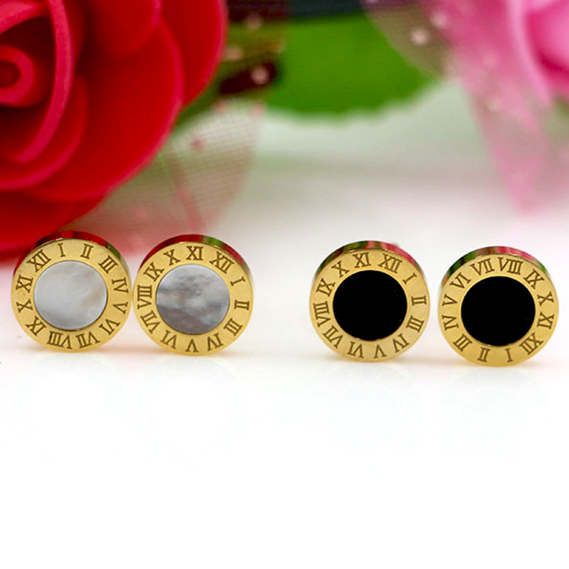 Hot High Quality Titanium Steel Stud Earrings Fashion Brand Jewelry Wedding Party Earrings For Women Lady Men Earrings Gift
