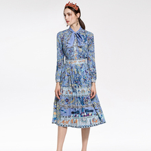 RED ROOSAROSEE High Quality European Style Wind Spring Summer New 2018 Female Long Sleeved Blouse + Half Skirt Suit