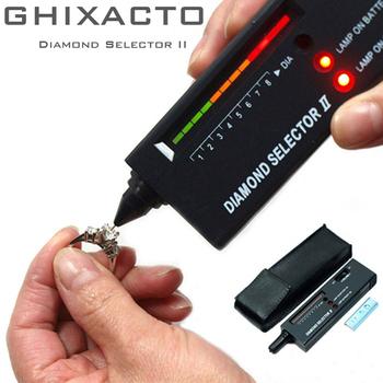 GHIXACTO profesjonalny tester diamentów o wysokiej dokładności kamień szlachetny selektor biżuterii narzędzie Watcher LED diamentowy wskaźnik długopis testowy tanie i dobre opinie V2 Professional High Accuracy Diamond Tester DIGITAL DC 9V battery x 1 (not included)
