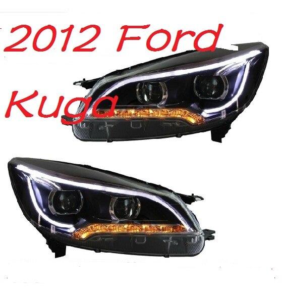Автомобиль Стайлинг для Ford Kuga фары Escape 2012 ~ 2015 Escape светодиодный фар DRL Bi Xenon объектив высокого ближнего парковка Туман лампа